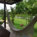 Enjoy beautiful garden on the hammock